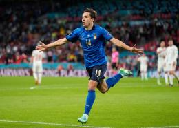 Selebrasi gol Frederico Chiesa/foto: UEFA.com