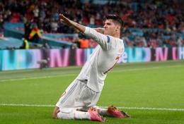Selebrasi gol Morata/foto:UEFA.com