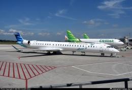 GA Bombardier yang dikembalikan ke Lessor. Sumber: Fikri Izzudin Noor / www.planespotters.com