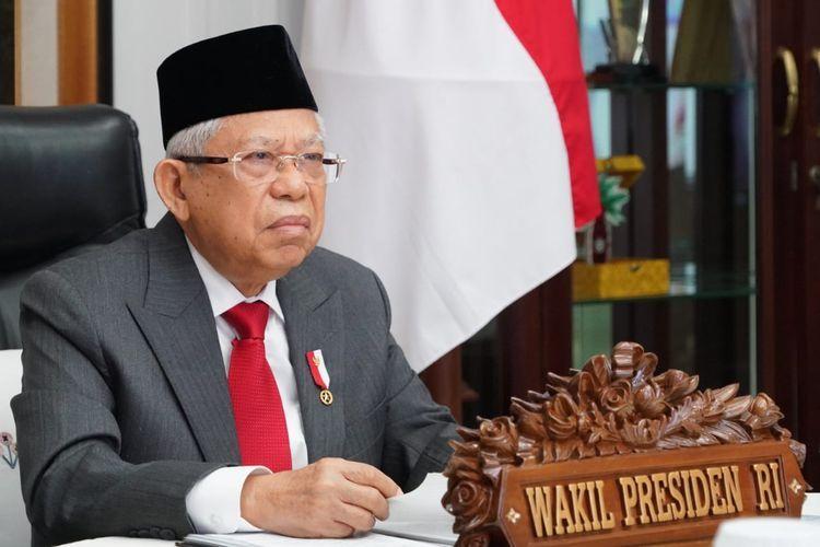 Wakil Presiden Ma'ruf Amin. Foto: Setwapres melalui kompas.com