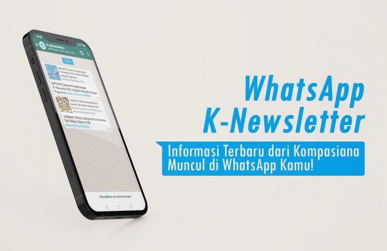 Gabung di WhatsApp Group K-Newsletter (Dok. Kompasiana | Template by syifa5610 via Freepik)