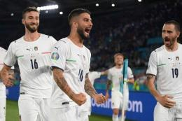 Bintang timnas Italia di Euro 2020, Lorenzo Insigne. Gambar: kompas.com