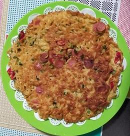 Omelet Mi Telur siap dinikmati | Foto: Siti Nazarotin