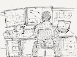 Ilustrasi Puisi : Di Ruang Kerja. Sumber: wagenugraha.wordpress