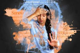 Seorang perempuan dalam kecemasan (Pixabay.com)