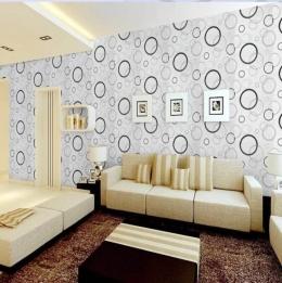 Ilustrasi rumah dengan wallpaper bermotif besar (sumber:wallpaperuse.com)