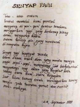 menulis salah satu melepas rasa cemas (dokpri)