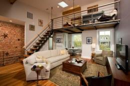 Ilustrasi apartemen berbentuk loft yang nyaman untuk dibuat tempat tinggal dan bekerja, menungjang produktivitas   Foto : Hipwee.com