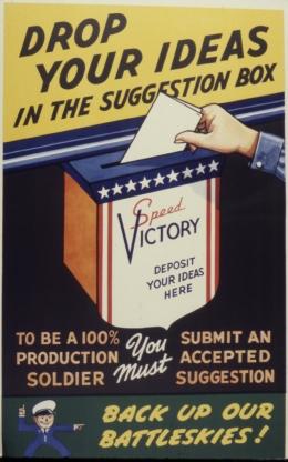 Kotak saran pada zaman itu, sumber: US National Archives