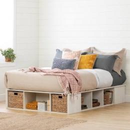 Ilustrasi Tempat tidur dengan tempat penyimpanan di bawahnya (sumber: popsugar.com)