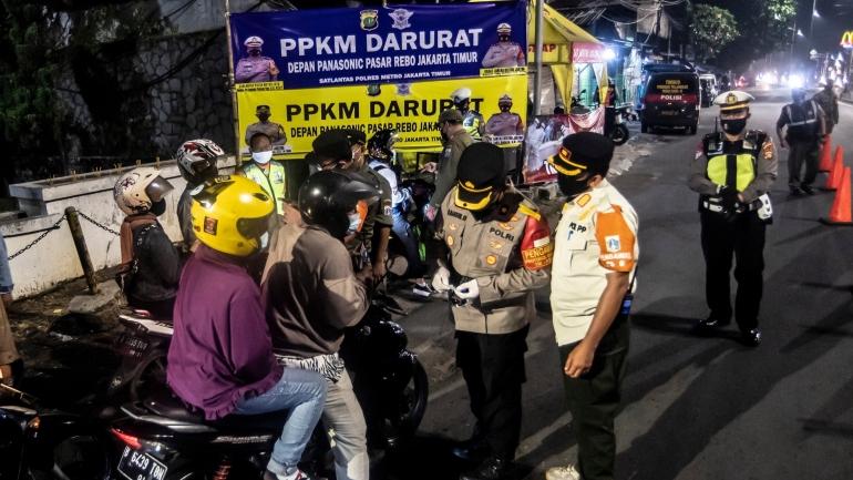 PPKM Darurat. sumber foto Antara