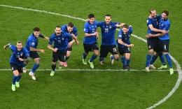 Skuad Italia yang akan menantang Inggris di final Euro 2020 (UEFA/ Michael Regan).