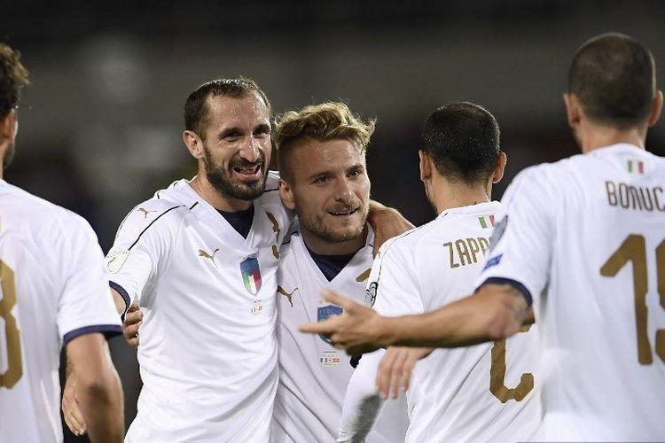 Italia akan berhadapan dengan Inggris di final Euro 2020. Sumber foto: AFP/Marco Bertorello via Kompas.com