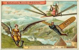 (Manusia di tahun 2000 menurut prediksi mereka di tahun 1900. Alat terbang pribadi. Sumber: mymodernmet.com)