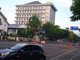 Simpang empat Gendengan yang telah ditutup mulai jumat (09/07/2021) | Dokumentasi pribadi