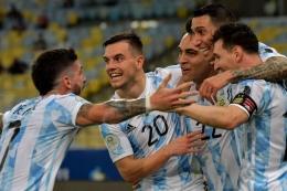 Setelah penantian yang panjang, akhirnya Lionel Messi berhasil bawa Argentina juara Copa America 2021. Via goal.com