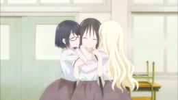 karakter utama Asobi Asobase : Kasumi, Hanako, dan Olivia (dok. Lerche/Asobi Asobase)