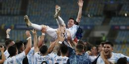 Lioner Messi kapten sekaligus motor permainan Argentina di Final Copa America 2021 - bola.net
