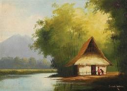 source: https://paimingambar.blogspot.com/2020/04/lukisan-rumah-di-tepi-sungai.html
