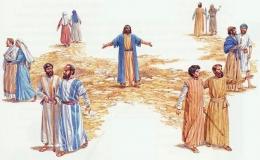Yesus mengutus para murid berdua-dua. Foto: keuskupanbogor.org.