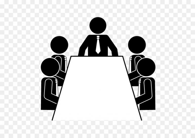 Gambar ilustrasi rapat/pertemuan (sumber gambar dari www.cleanpng.com)