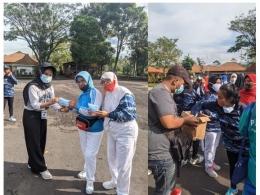 Pembagian Masker dan Hand sanitizer Kepada Warga Desa Klampok - Singosari