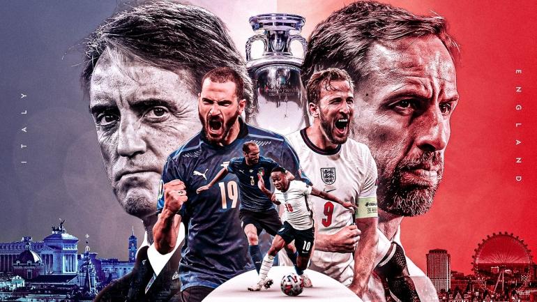 Final Euro 2020 Italia Vs Inggris di Wembley Stadium (Foto Skysports)