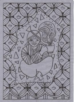 Design Batik Lukis Kopi Tubruk Wonokromo