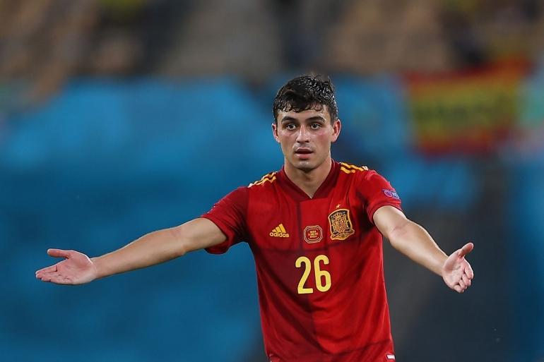Pedri tampil megesankan bersama Timnas Spanyol di Piala Eropa 2020. Dia diganjar penghargaan sebagai Pemain Muda Terbaik/Foto: https://www.barcablaugranes.com/