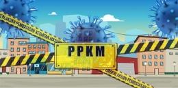 Ilustrasi PPKM Darurat. (Foto: waspadaco)