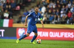 Leonardo Bonucci yang berhasil menyamakan kedudukan 1-1 babak normal final Euro 2020 antara Italia lawan Inggris (twitter.com/ @EURO2020).