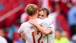 Dolberg & Damsgaard, bintang muda timnas Denmark. (via sportjeu.com)