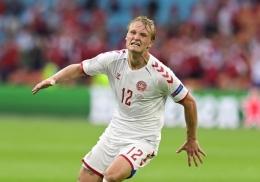 Kasper Dolberg. (via Reuters)