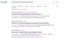 Tangkapan layar dari Google