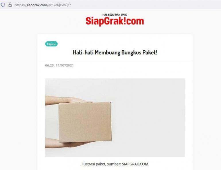 Tangkapan layar dari siapgrak.com