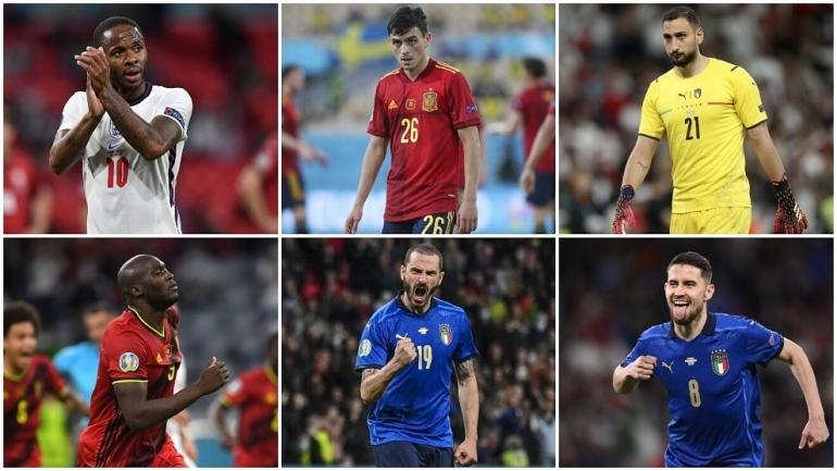 11 nama terpilih masuk dalam Team of the Tournament Euro 2020. Italia sebagai tim juaar diwakili 5 pemain/Foto: Marca