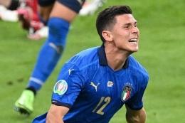 Matteo Pessina berkontribusi besar bagi Italia di Euro 2020. Sumber: Justin Tallis/via Kompas.com