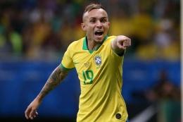 Everton diandalkan Brasil di Copa America 2019 dan kembali tampil di Copa America 2021. Sumber: Reuters/Edgard Garrido/via Tempo.co