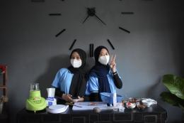 Proses Pembuatan Video Tutorial Masker Stroberi Organik/dokpri