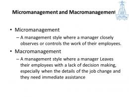 Micromanagement dan Macromanagement. Sumber: slideplayer.com/slide/6228447/