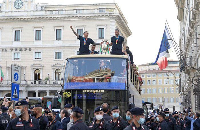Italia juara Euro 2020. foto reuters