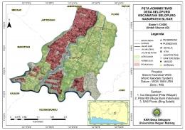 Peta Administrasi Desa Selopuro/dokpri