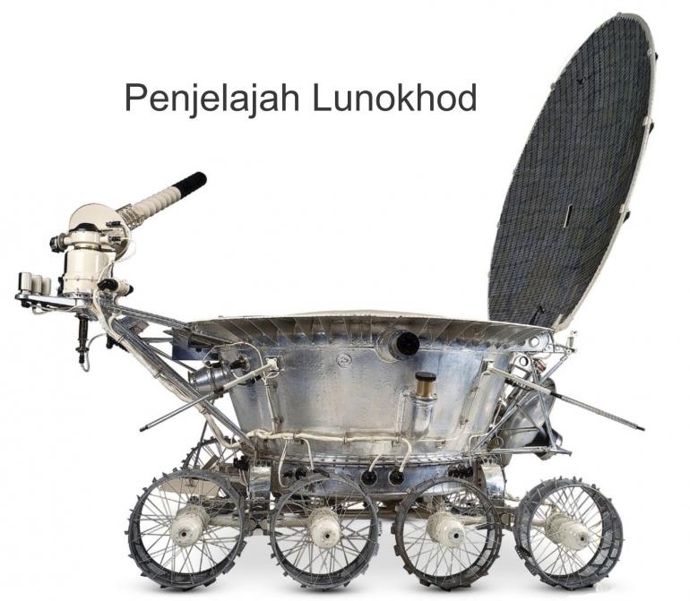 Penjelajah Lunokhod. Sumber: buku Periodic Table Book - A Visual Encyclopedia, hlm. 174.