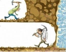 Ilustrasi orang sukses terus berusaha, orang gagal berhenti berusaha (sumber Raphael-consulting.com)