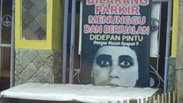 Ilustrasi dilarang parkir di depan rumah, sumber: facebook