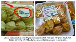 Ciplukan masuk supermarket, harganya jadi tinggi (sumber gambar tercantum)