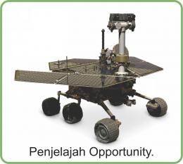 Penjelajah Opportunity. Diadaptasi dari buku: Periodic Table Book - A Visual Encyclopedia, hlm. 136.