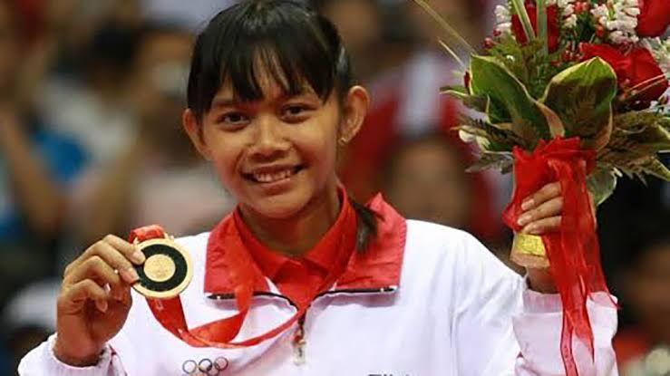 Maria Kristin Yulianti meraih medali perunggu Olimpiade Beijing 2008 (malang-post.com)