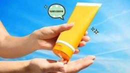 Ilustrasi pengaplikasian sunscreen (sumber: orami.co.id)