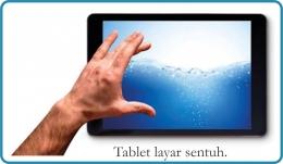 Tablet layar sentuh. Diadaptasi dari buku: Periodic Table Book - A Visual Encyclopedia, hlm. 137.